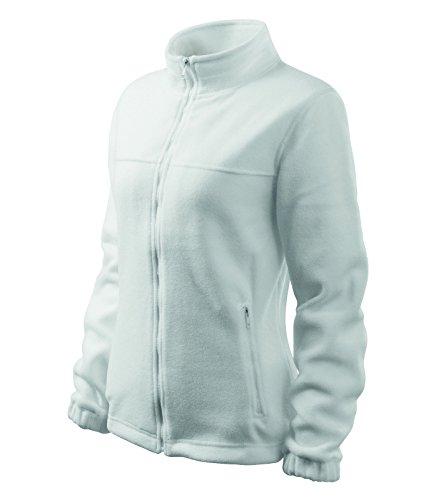 Damen Fleece Jacket Hochwertige Fleecejacke Anti-Pilling (M, Weiss)