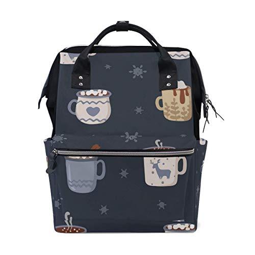 Merry Christmas Little Coffee Sac à langer Grand sac à langer de voyage pour allaitement Sac à dos maman