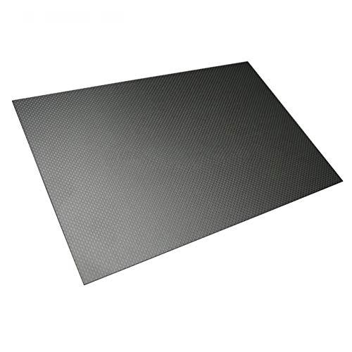 SOFIALXC - Pannello in 100{b2c53a5425e9d7f2e292827c68dc2f9b9ff37752f8289f7355c8ee3bc5aaf8a8} Fibra di Carbonio 3K (Opaco per Drone, ECC.), 400mmx500mm, 0,5 mm
