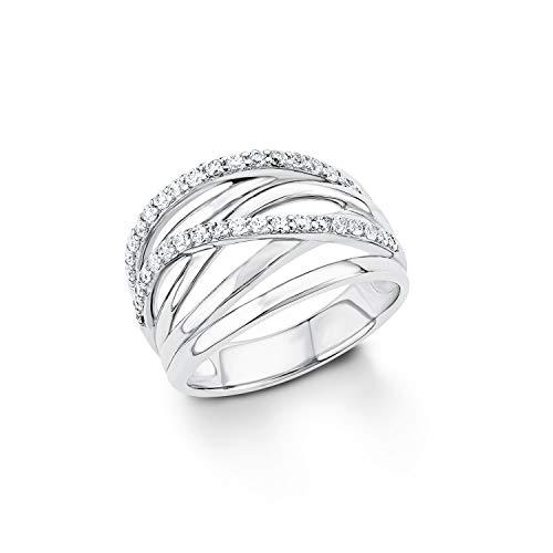 s.Oliver Ring für Damen 925er Sterling Silber rhodiniert