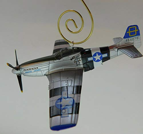Nancy's Originals P-51 Mustang Jumpin Jaques Holiday/Christmas Ornament with Golden Hanger