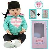 ZIYIUI Reborn Bambola 47cm 18inch Realistica Bella Ragazza Molle del Bambino di Simulazione del Silicone Vinile Ragazza del Ragazzo Reborn Bambola Giocattolo Regalo di Natale