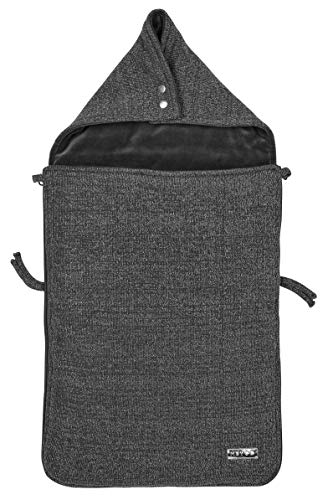 Meyco 2740004 voetenzak velours gevoerde knit Basic Deluxe met glittereffect grijs melange