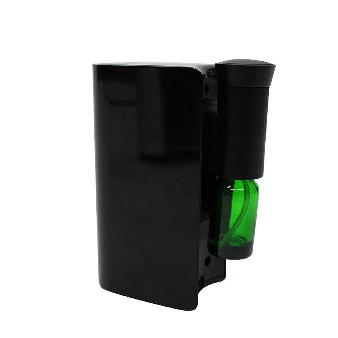 よく話される狐教育学電池式アロマディフューザー 水を使わない ネブライザー式 アロマ ディフューザー アロマオイル対応 自動停止 ECOモード搭載 コンパクト 香り 癒し シンプル ブラック