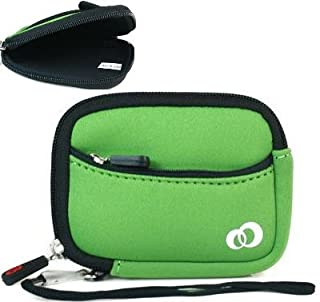 Green Neoprene Protective Durable Mini Sleeve for Canon Powershot ELPH is HS Digital Cameras and Screen Protector and Mini Tripod