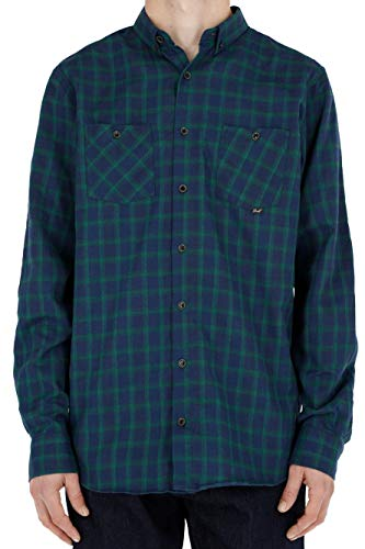 Reell Faded Shirt AW18, Green/Navy M Artikel-Nr.1302-033 - 02-005