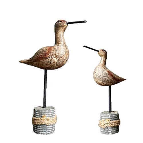 F Fityle 2 Stücke Realistische Vogel Figuren Detaillierte Nette Holzfiguren Handgemalte Figuren Spielzeug Weihnachten Geburtstagsgeschenk Für Kinder Kleinkinde