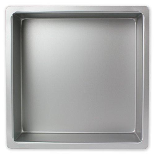 PME Cuadrado Molde para Pastel de Aluminio, Plateado, 15 x 15 x 4 Pulgadas