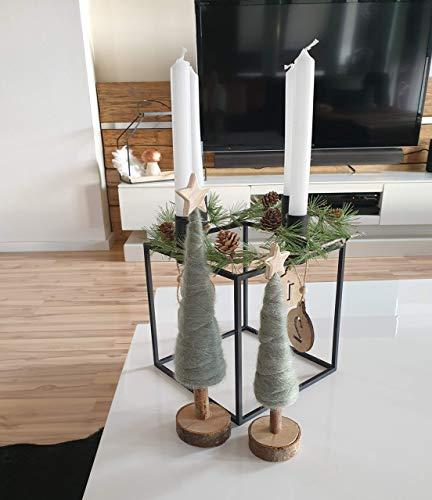 Handgefertigter Kubus Kerzenständer Kerzenhalter Deko Würfel Cube Schwarz Weiß Gold Kupfer