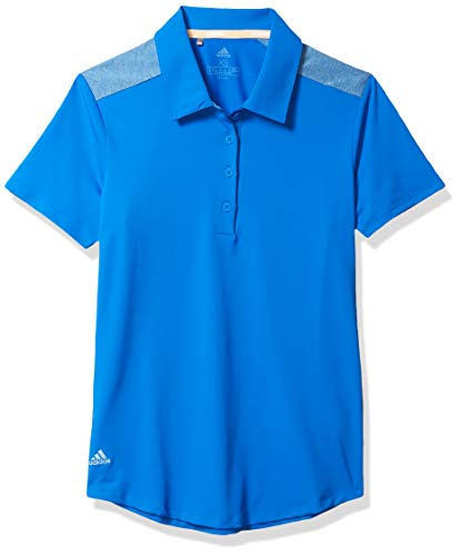 adidas Golf Ultimate365 Short Sleeve Polo, Glory Blue, Medium