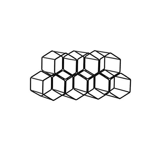 MissLi Tipo de encimera de Panal Negro Estante de Vino Tinto y Blanco de 7 Orificios Que Ahorra Espacio Estante de Vino para Sala de Estar en el hogar Decoración