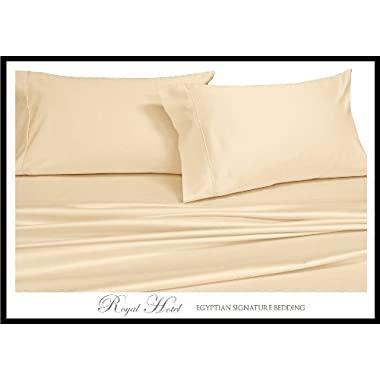 Queen Ivory Silky Soft bed sheets 100% Rayon from Bamboo Sheet Set
