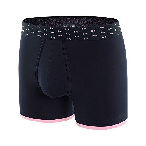 EdenPark heren boxershorts katoen bowtiebelt marineblauw roze