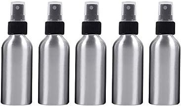 Botella de pulverización portátiles Recargables de Cristal 5 PCS Niebla Fina de Aluminio Atomizadores Botella, 120 ml (Negro) Botella de Spray (Color : Black)