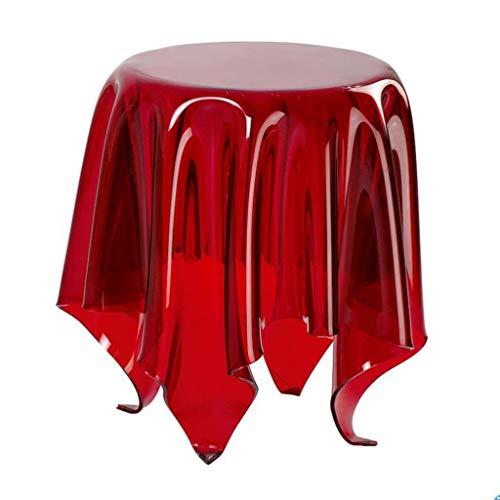 BYZHP Mesa Auxiliar Mesita de Café Mesa Lateral Mesa de café Moderna Mesa de Extremo Creativo Sofá Redondo Mesa de sofá acrílico Mesa mágica en Forma de Mesa para salón salón