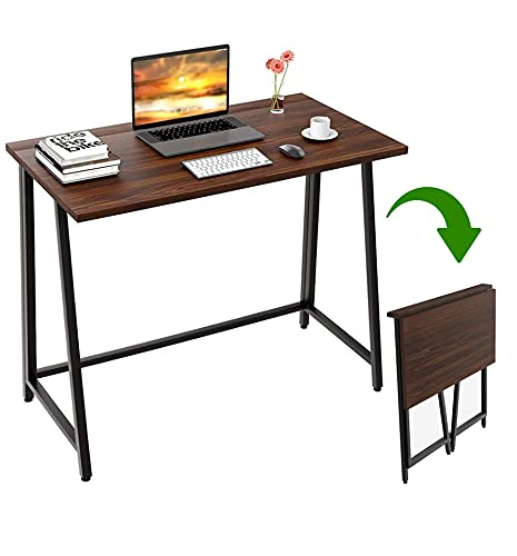 JANE EYRE Computer Desk, Folding Desk Simple Industrial Style Home Office Table Small Computer Desk Sturdy Writing Table for Small Space Offices