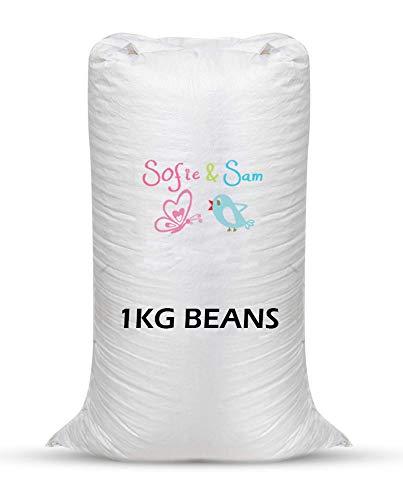 Sofie & Sam, 1 Kg Bean Bag Refill/Filler - White Gem