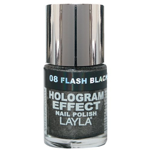 Layla Cosmetics Hologram Effect Nagellack - flash black, 1er pack (1 x 0.01 l)