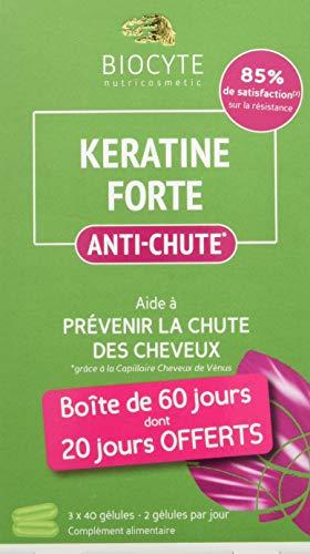 Biocyte Kératine Forte Anti-Chute Multi-Vitamines et Minéraux 120 Gélules