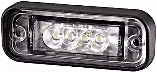 Preisvergleich Produktbild HELLA 2KA 010 278-411 Kennzeichenleuchte,  LED Kennzeichenlicht,  Einbau oben,  Flachsteckhülse,  12 V
