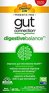 Country Life Gut Connection - 60 ct - Digestive Balance - Help Improve Gut Microbiome Health - Reduces Occasional Digestiv...