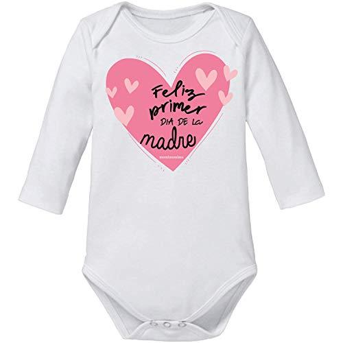 Body Bebé Día De la Madre'Feliz Primer Día de La Madre' (3 MESES, MANGA LARGA)
