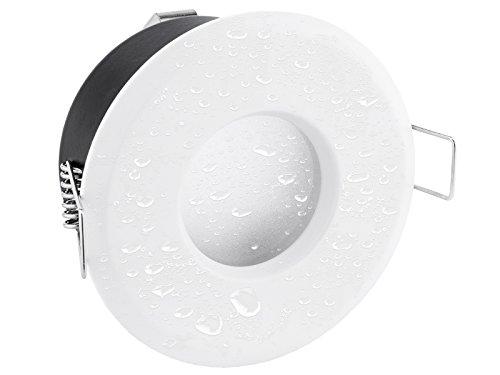 linovum® flache Einbauleuchte LED 230V für Bad & Außen IP65 in Weiß rund inkl. LED Modul 5W neutralweiß - Einbautiefe 50 mm