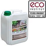 Biologischer Holzschutz HAresil Basic 5l Holzschutzlasur schützt vor Pilze, Holzwurm, Holzschädlinge, Holzschutz für Innen und Außen