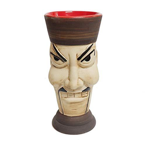 Copa De Cóctel Totem 1 unids cóctel taza bebida cerveza taza taza de vino tazas de cerámica (Color : White)