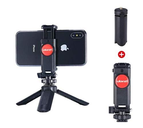 Verstelbare telefoonhouder met 1/4 schroef Hot Shoe Mount Quick Release Vlog video-opnamen voor DSLR-camera Smart Phone # 14, met mini-statief