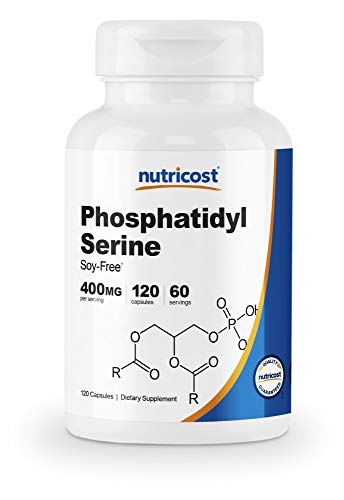 Nutricost Phosphatidylserine 400mg, 120 Capsules - Soy Free, 60 Servings, Vegetarian Friendly, Non-GMO, Gluten Free