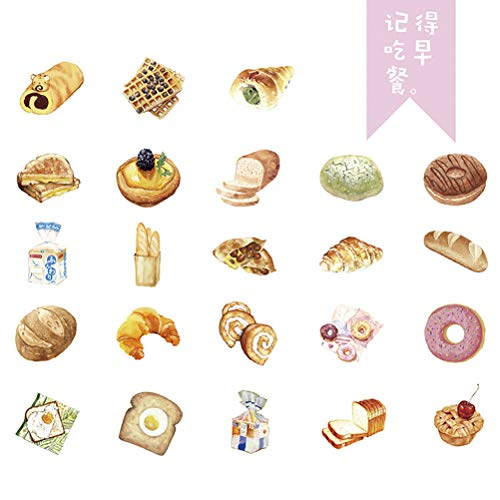 YeahiBaby Funny Brot Aufkleber Notebook Deko Sticker Frühstück DIY Hand Konto Aufkleber