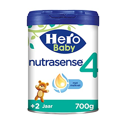 Hero Baby Peutermelk 4 (2+ jr) - 3 stuks - 700gr - Nutrasense - met Melkvet - Palmolie Vrij