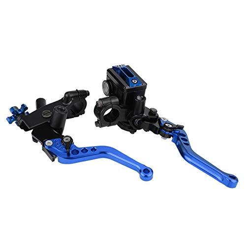 1 par 7/8'Universal Motorcycle Freno Clutch Master Cilindro Depósito de palancas con Freno y Enchufe de Interruptor de Embrague Palancas de Freno (Color : Azul)