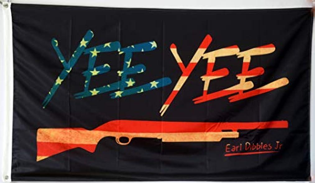 Fastbull Yee Yee American Antiqued Colonial Black Flag 3Xft Banner