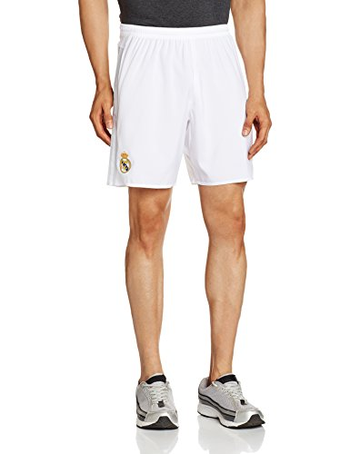 adidas Heimshorts Real Madrid Replica Pantalón Corto Primera equipación, Hombre, Blanco/Gris, XXL