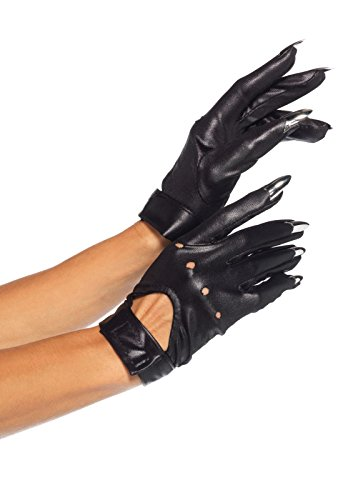 Leg Avenue Women's Sexy Clawed Gloves Cat Costume Halloween Accessory