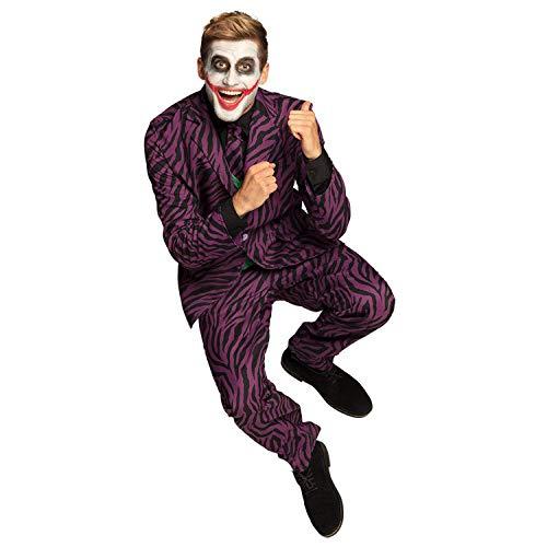 Boland 79205  Disfraz de villano, diferentes tamaos, corbata, chaqueta 2 en 1 y pantalones, hombre, traje, psic, Halloween, carnaval, fiesta temtica