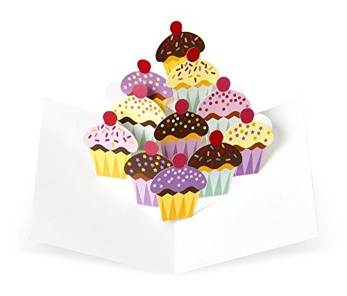 Arteum–Scatola a cartoline–Note Card Box, Sabuda pop-up Cupcake–Multicolore