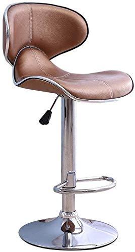 YLCJ bureaustoel draaibare kruk kappersstoel met pedaal en rugleuning onder rond chassis 5 kleuren slaapkamerkruk (kleur: C, maat: 62-83 cm) 62-83CM C
