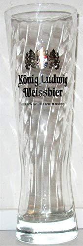 König Ludwig - Vaso de cerveza blanca (0,5 L), color blanco