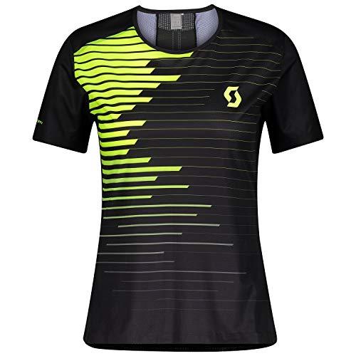 Scott Women's RC Running Shirt S/SL Black/Yellow EU M