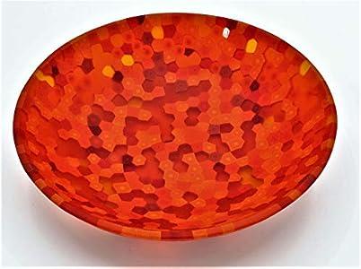 Plato de cristal de Murano Murrine Moretti diámetro 13 centímetros de colección