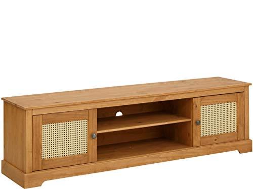 Loft24 A/S Fernsehhängeschrank TV-Lowboard Kiefer Massivholz Fernsehschrank Breite 175 cm (gebeizt geölt)