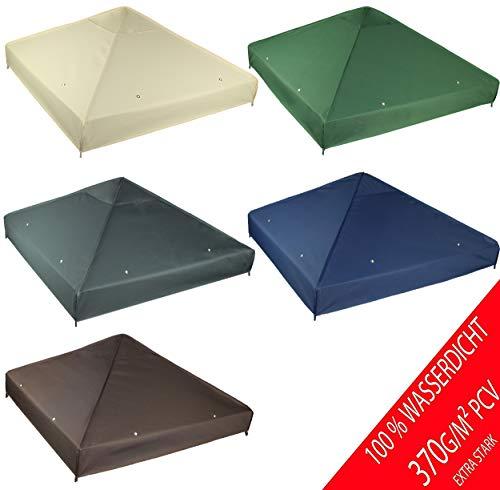 freigarten.de Ersatzdach für Pavillon 3x3 Meter Wasserdicht Material: Panama PCV Soft 370g/m² extra stark Modell 2 (Grün)
