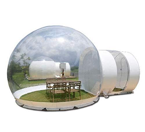 SKLLA La Burbuja Inflable casa es Adecuada para Resorts en Lugares turísticos, Villas, hoteles y Tiendas de campaña inflables Transparentes Luminosos para Acampar al Aire Libre