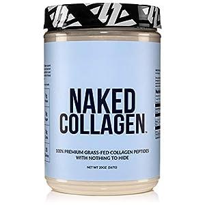 Naked Collagen – Collagen Peptides Protein Powder, 60 Servings Pasture-Raised, Grass-Fed Hydrolyzed Collagen Supplement | Paleo Friendly, Non-GMO, Keto, Gluten Free | Unflavored 20oz