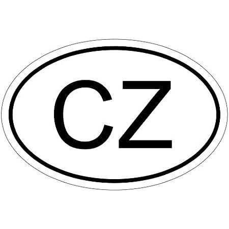 Kiwistar Tschechien Cz 10 X 6 6cm Autoaufkleber Sticker Aufkleber Kfz Flagge Auto