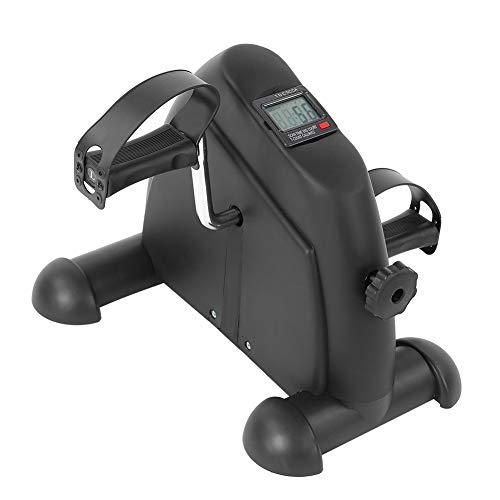 Mini ejercitador de pedales de bicicleta estática con monitor LCD para piernas y brazos, herramientas de fitness para el hogar y la oficina