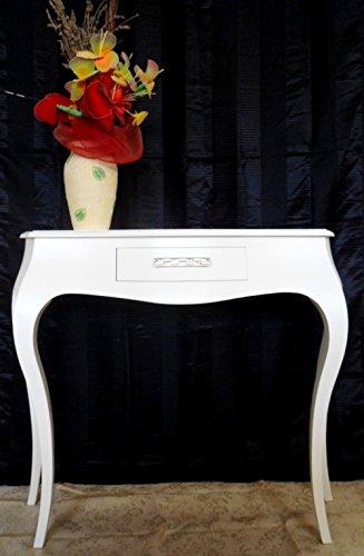 Legno&Design Table Console d'entrée avec 1 tiroir en Bois Blanc Peint